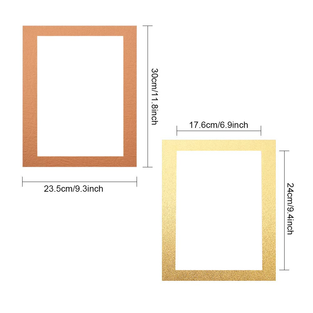 15 Colors Set of 15 Picture Mats Matting with White Core Bevel Cut for 8x10 Pictures WANDIC Picture Mats