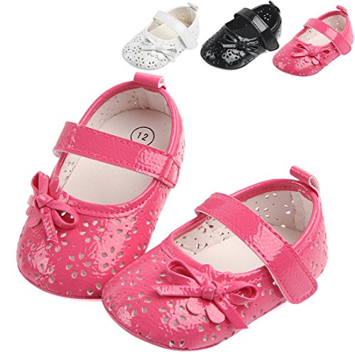 MiYuebb Baby Girls Summer Cute Crib Hollow Out Shoes Princess Flower Bowknot Soft Sole Non-Slip Velcro Strap Sandals(12-18 Months, (Cute Shoes Under 10 Dollars)