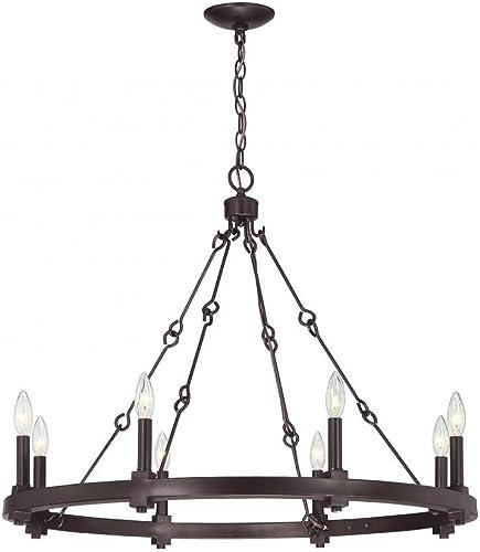 Savoy House Adria 8-Light Chandelier in English Bronze 1-930-8-13
