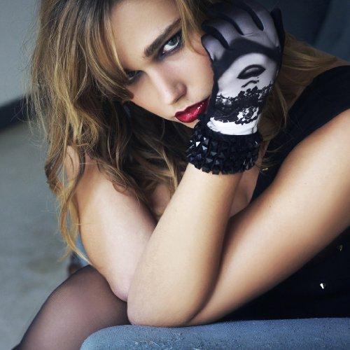 [リリーの宝 (Les Tresors De Lily)] (Erotica コレクション) [K5774] 手袋 ブラック