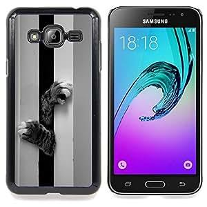 Stuss Case / Funda Carcasa protectora - Patas del gato Gatito Lindo Negro Blanco mascotas - Samsung Galaxy J3 GSM-J300