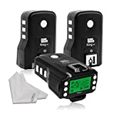 Pixel King Pro Flash Three Transceivers kit TTL HSS LCD Screen with PC Port for Sony Mi Shoe Cameras Sony A7 A7R A7RII A6300 A65 A77II RX10III
