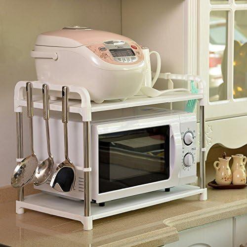 Doble capa microondas horno Shelf de almacenamiento Rack ...