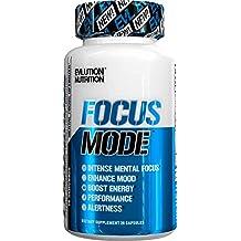 Evlution Nutrition Focus Mode | Herbal Brain Function & Cognitive Support Supplement | Focus + Energy + Clarity + Memory | Mind Enhancer & Mood Booster Nootropic | 14 Servings