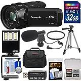 Panasonic HC-V800 Wi-Fi Full HD Video Camera Camcorder 32GB Card + Case + Tripod + Reader + LED Video Light + Microphone + Filter + Kit