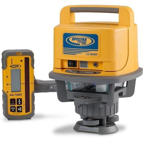 Spectra Precision Laser LL500 Exterior Self-Leveling Laser Level With HL700 Receiver (Best Laser Level For Grading)