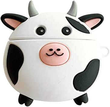 Amazon Com Rgbiwco Airpods Case Lovely Cow Pattern Soft