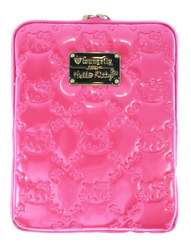Hello Kitty Pink Patent Embossed iPad Cover
