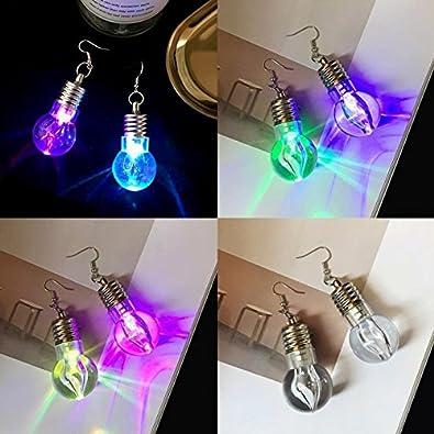 ETbotu Mode Ohrringe Mode kreative bunte leuchtende Gl/ühbirne Ohrringe einzigartige Pers/önlichkeit lange Ohrring Weihnachtsgeschenk
