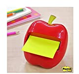 FYUE Sticky Notes Apple-Shaped Dispenser _ Red
