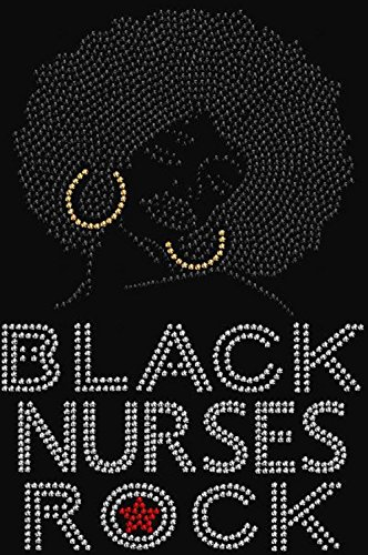 Black Nurses Rock Rhinestone Iron on Transfer ()