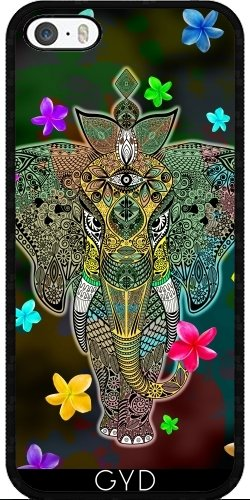 Coque pour Iphone SE - Art Doodle D'éléphant by BluedarkArt