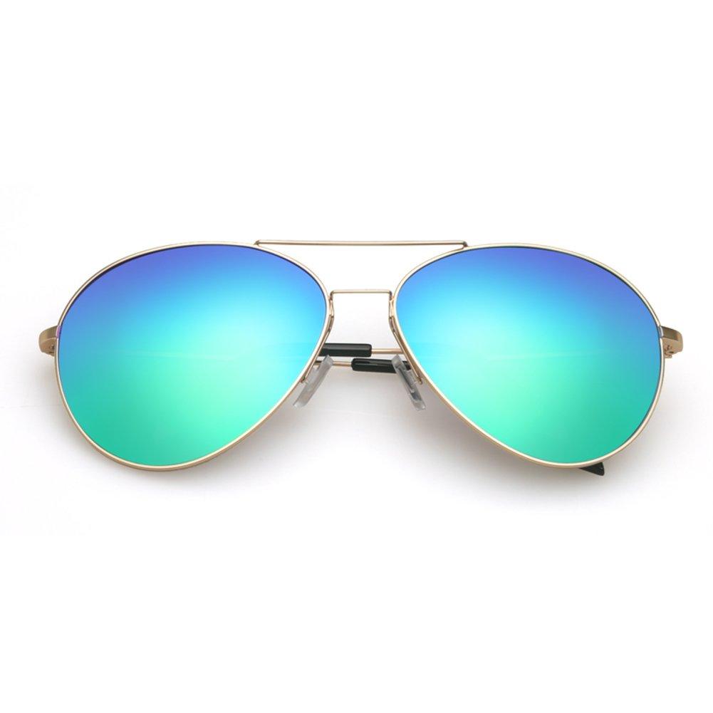 125a3643ad6 Amazon.com  Ladies Polarized Sunglasses Unisex sunglasses Fashion color  film frog mirror-A  Clothing
