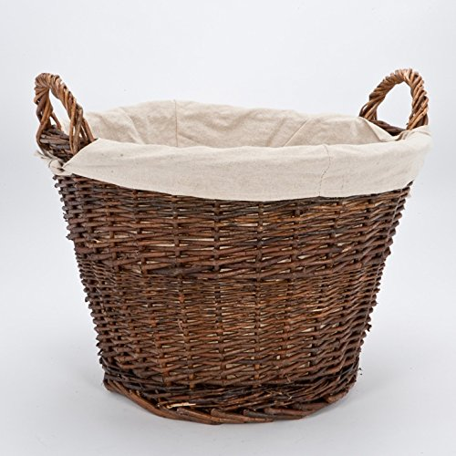 Inglenook Wicker Log Basket With Removable Lining
