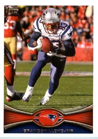 Amazon.com  2012 Topps Football Card   17 Brandon Lloyd - New England  Patriots (NFL Trading Card)  Collectibles   Fine Art 53e0e05a8
