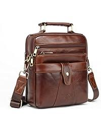 Men's Genuine Leather Messenger Shoulder Bag Handbag Laptop iPad Briefcase