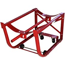 Milwaukee Hand Trucks 40159 55-Gallon Drum Cradle with 2 Wheels and 2 Casters