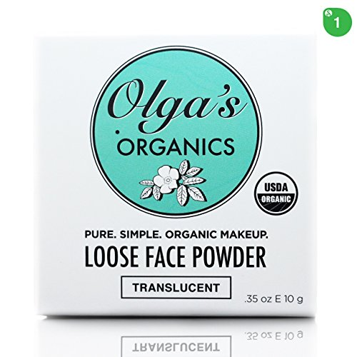 USDA Organic Loose Face Powder - Translucent by Olga's Organics