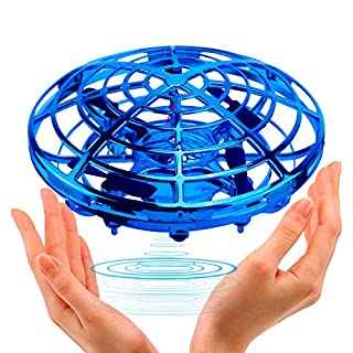 UFO Flying Ball Toys, TURN RAISE Motion Hand-Controlled Suspension Helicopter ToyInfrared Induction Interactive Drone Indoor Flyer ToysWith 360°Rotating and Flashing LED Lightsfor Kids, Boys, Girls