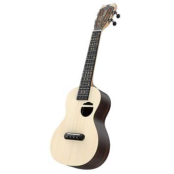 NING-MENG Ukulele Guitarra Eléctrica Acústica Smart Soprano 23 Pulgadas Mini Guitarra Bluetooth Ukulele Para