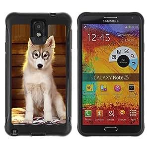 ZETECH CASES / Samsung Note 3 / HUSKY PUPPY ALASKAN MALAMUTE DOG / fornido perrito de alaska malamute perro / Robusto Caso Carcaso Billetera Shell Armor Funda Case Cover Slim Armor