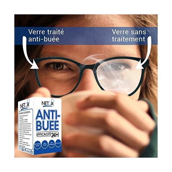 Netoa ® – Paquete de 120 toallitas antivaho para todo tipo de lentes, gafas graduadas, de sol, de natación, máscaras de buceo, prismáticos, ideales contra el vapor y el vaho 10