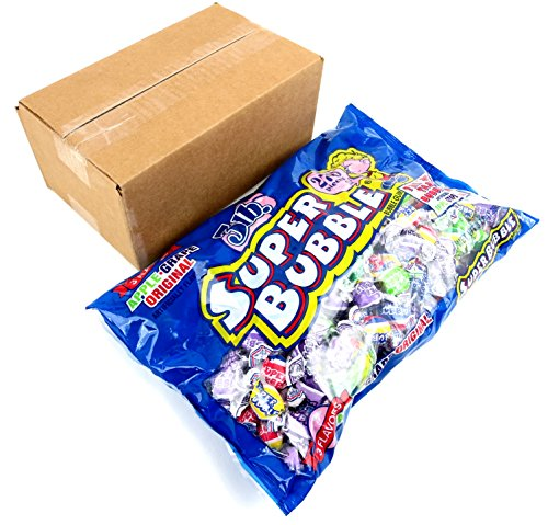 Super Bubble Bubble Gum, 3lb Bag of Assorted Flavors Frustration Free Packaging