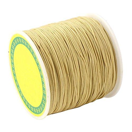 arricraft 1 Roll 0.5mm DarkKhaki Braided Nylon Cord Imitation Silk String Thread Jewelry Making, About ()