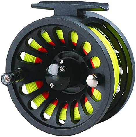 LUREMASTER Pre-Loaded 5 6 WT Fly Fishing Reel with Weight Forward Floating Fly Fishing Line WF5F Backing Line Taper Leader Combo Set for River Stream Fishing