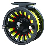 LUREMASTER Pre-loaded 5/6 WT Fly Fishing Reel with Weight Forward Floating Fly Fishing Line WF5F Backing Line Taper Leader Combo Set for River Stream Fishing – Fluo Yellow Review