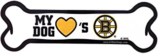 product image for All Star Dogs NHL Boston Bruins Bone-Shaped Magnet, One Size, Black