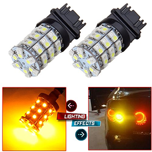 Top cciyu 2 Piece White/Amber 60-3528-SMD 3157 3457 4157 Switchback LED Bulbs Replacement fit for 3157 Tail Brake Stop Light Fit 1998-1999 Chevrolet C1500 Suburban for sale