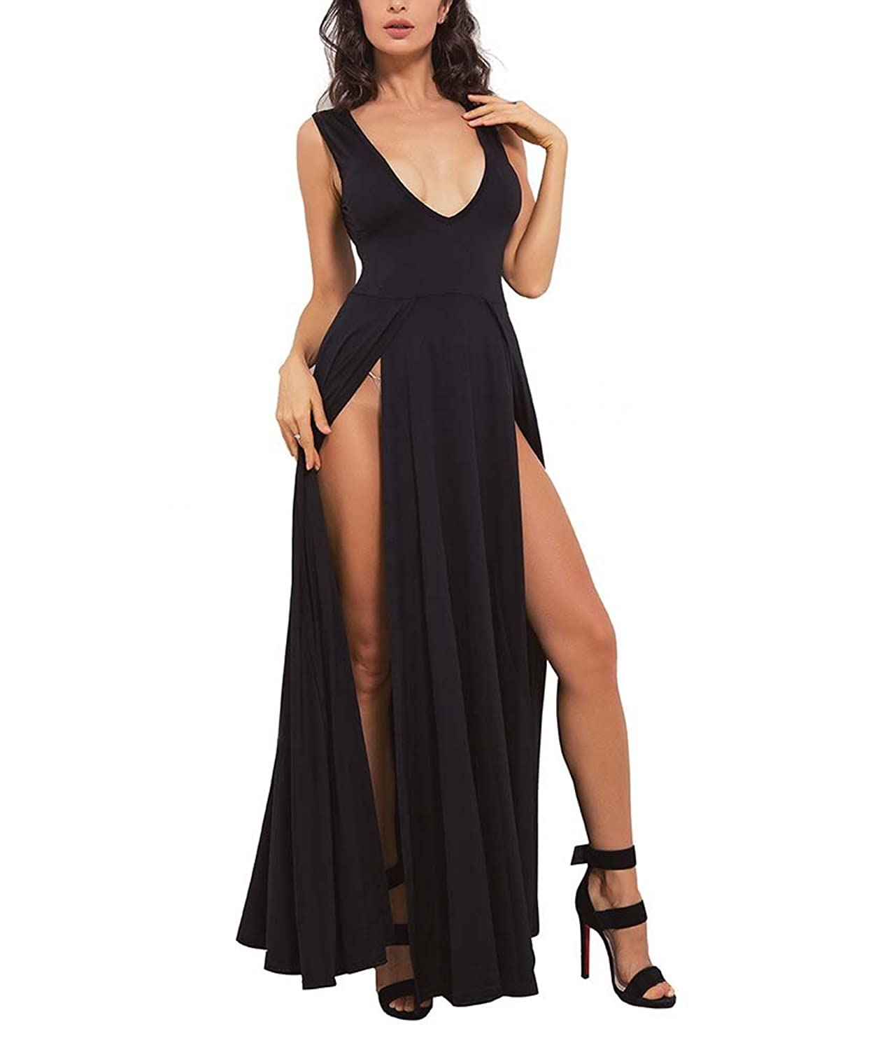 Sexy Dress Nightclub Kleid V-Ausschnitt Low-Cut-Kleid Enge Kleid ...