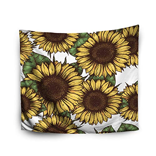 Jacrane Tapestry Wall Hanging with 50x60 Inches Halloween Sunflower Pattern Sunflower Fabric Background Art Tapestries for Bedroom Living Room Home Decor Wall Hanging Tapestries -