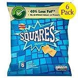 Walkers Squares Salt & Vinegar Snacks 6 X 27.5G