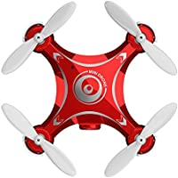 Remote-controlled Rechargeable Mini Quadcopter Rotatable Motor Drone Aircraft with WIFI FPV HD Camera 4 Channels 6 Axis Gyro 2.4 Ghz (red)