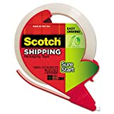 Scotch 3450SRD Packing Tape, w/Refillable Dispenser, 1-7/8''x38.2 Yds, CL