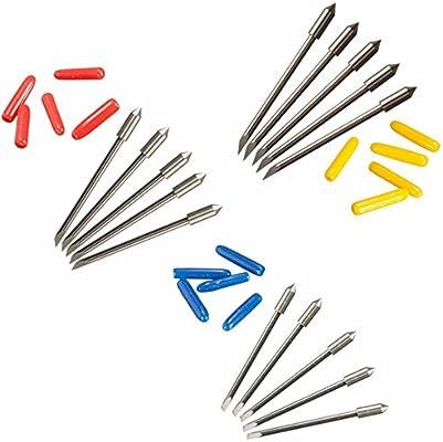 Yakamoz - Portacuchillas para plotter de corte Graphtec CB09 y CB09U con 15 cuchillas de corte de vinilo de 30, 45 y 60 grados: Amazon.es: Electrónica