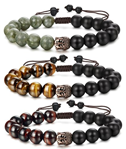 FIBO STEEL Buddhist Bracelets Adjustable