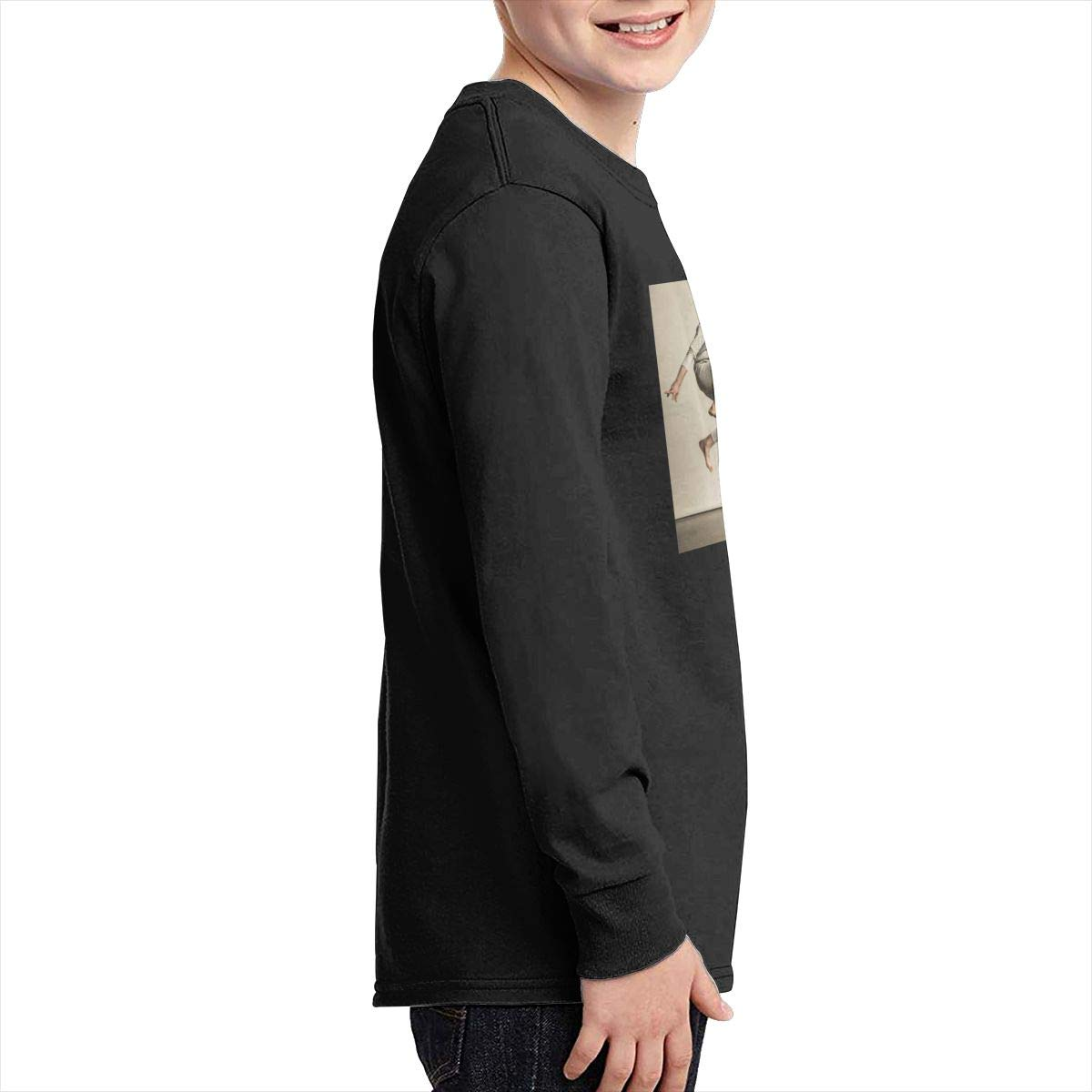 RhteGui AJR Boys /& Girls Junior Vintage Long Sleeve T-Shirt Black