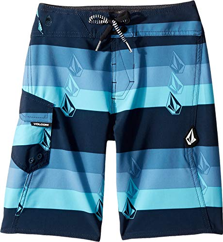 Volcom Kids Boy's Lido Liney Mod Boardshorts (Big Kids) Vintage Blue 26 (12 Big Kids)