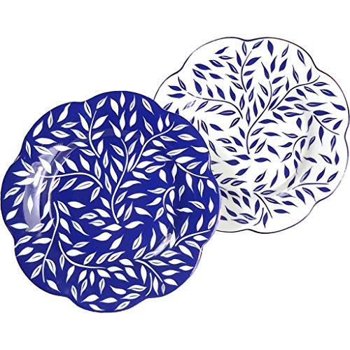 Royal Limoges Olivier Blue All Over Dessert Plate