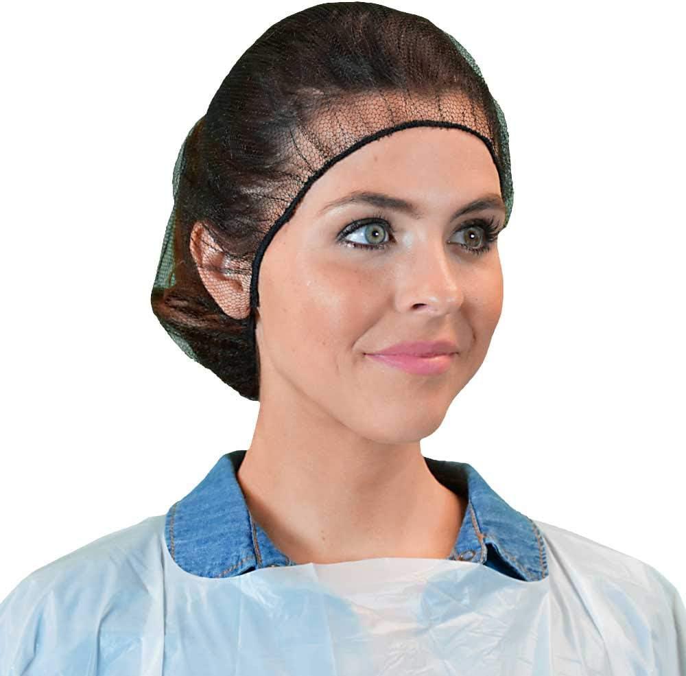 Qiansou Disposable Hair Nets Durable Nylon Caps Breathable Honeycomb Latex Free 24
