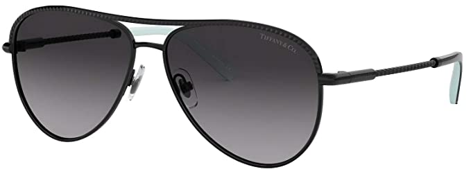 c010fbb32b74 Image Unavailable. Image not available for. Colour  Tiffany   Co. TF 3062  Gradient Aviator Sunglasses for Women Black 60073C