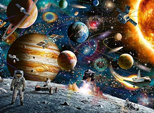 Jigsaw Puzzles for Adults 1000 Piece Puzzle for Adults 1000 Pieces Puzzle 1000 Pieces– Planets in Space Jigsaw Puzzle
