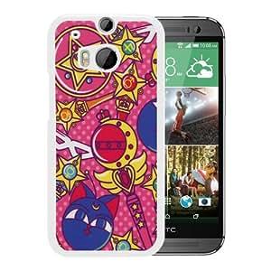 Hot Sale HTC ONE M8 Case ,Sailor Moon White HTC ONE M8 Cover Case Unique Popular Designed Phone Case