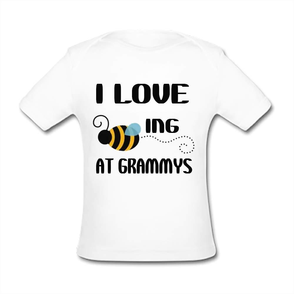 UlanLi Infant Tee I Love Ing at Grammys Baby Organic Short Sleeve T-Shirt White