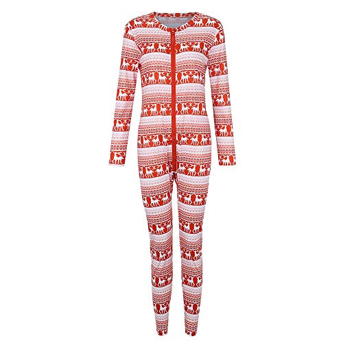 Seaintheson Family Christmas Pajamas Set, Zippers Long Sleeve Deer Print Onesie PJs Family Clothes Long Jumpsuits]()