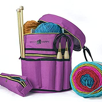 Amazon.com: Stitch Happy Designer - Bolsa de tejer con 7 ...