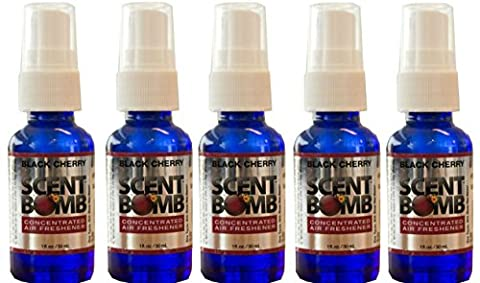Scent Bomb Super Strong 100% Concentrated Air Freshener - 5 PACK (Black Cherry) (Scent Bomb Car Spray)